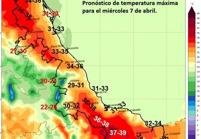 Más calor para la entidad en los próximos 5 a 7 días