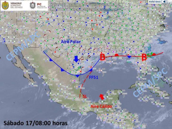Próximas 24 horas se prevé inicie el descenso de temperatura, aumente el potencial de lluvias/tormentas y se establezca el norte