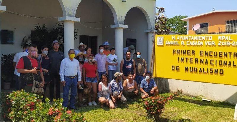 Inició el Primer Encuentro Internacional de Muralismo en Cabada