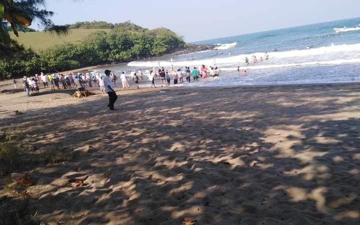 Playas y balnearios de Los Tuxtlas con poco aforo por Frente Frío 47