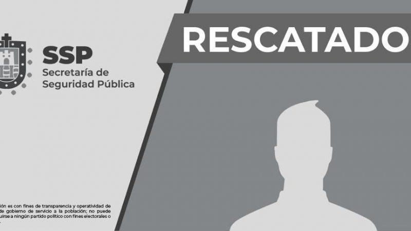 Rescata SSP a persona privada de la libertad, en Soledad de Doblado