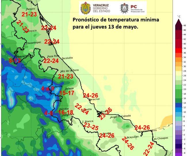 Próximas 24 horas se espera continúen las lluvias y tormenta en la mayor parte de la entidad