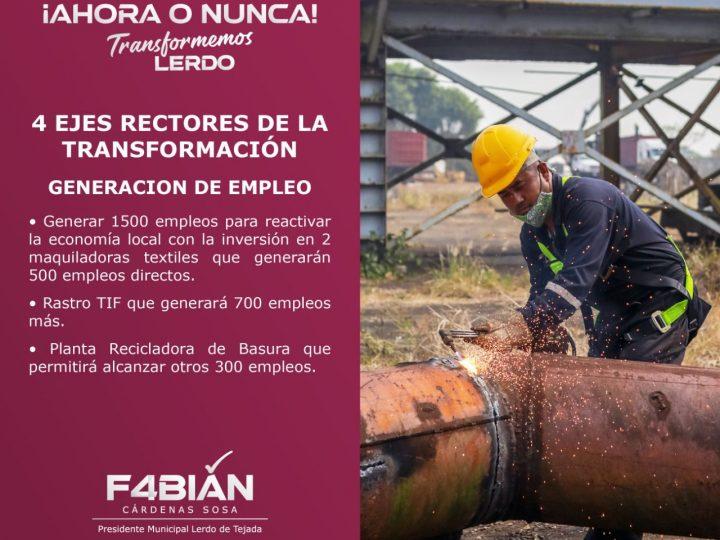¡Ahora o nunca transformemos Lerdo!: Fabián Cárdenas Sosa