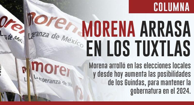 Arrasa Morena en los Tuxtlas y en los Llanos
