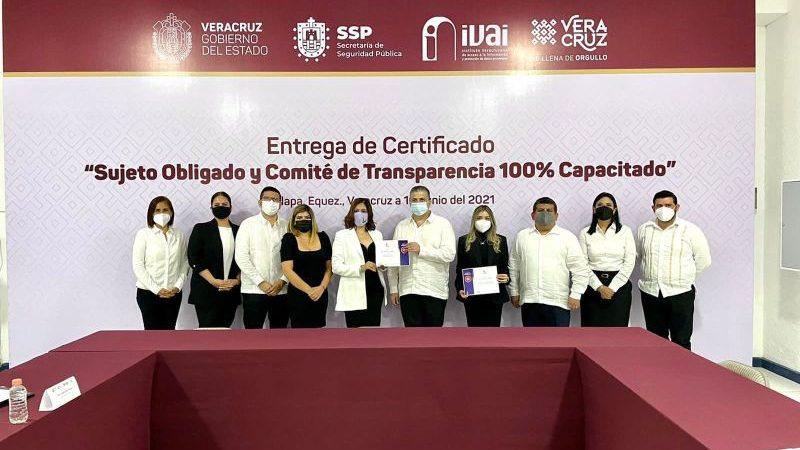 Acredita SSP proceso de certificación en transparencia