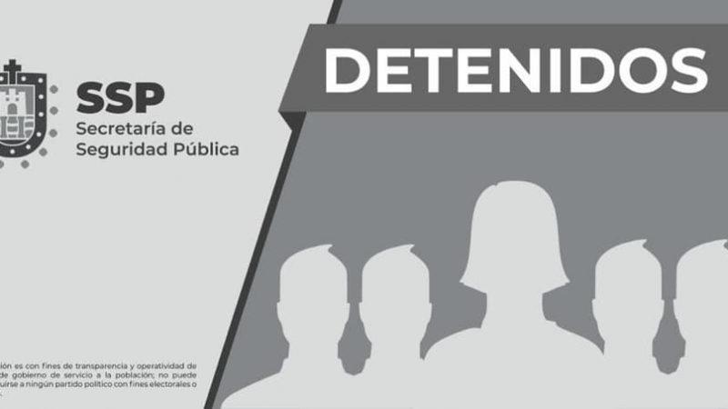 Detiene SSP a 4 hombres y una mujer por presuntos delitos contra la salud, en Córdoba