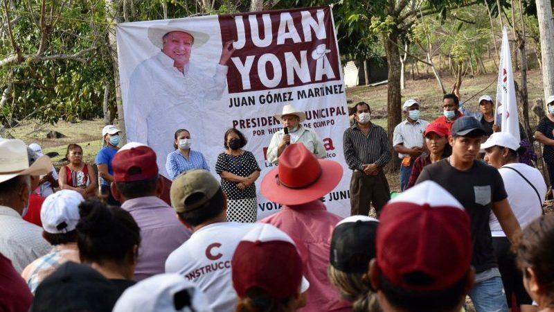 Reactivará Juan Gómez la economía local de Hueyapan