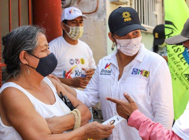 Sólo unidos podremos lograr el Santiago Tuxtla que todos anhelamos:  Kristel Hernández