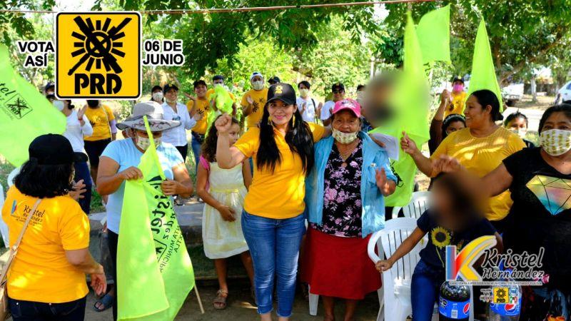 Los sectores vulnerables en mi administración serán una prioridad: Kristel Hernández
